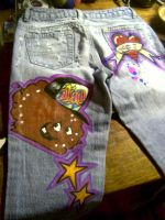 Meatwad graffiti jeans custom by MURDEROUSONE