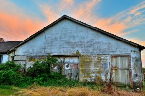 Front of the Abandoned Barn HDR by PAlisauskas