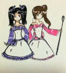 Lia and Mei - talent show by Dhanica02