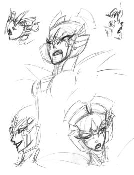 WindbladeDawn of the Autobots quick sketchs by Pharoahess
