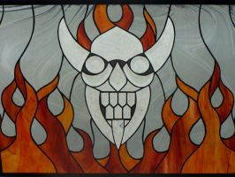 Stained Glass Devil by viciousoul