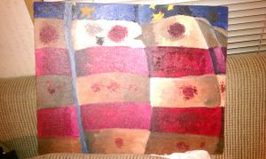 my version of an American flag in oil paint by KikiGreenwell