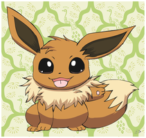 Eevee waves Hello by pichu90