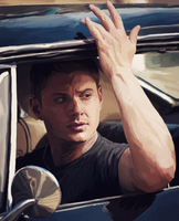 Dean in the Impala by BlackMorningX