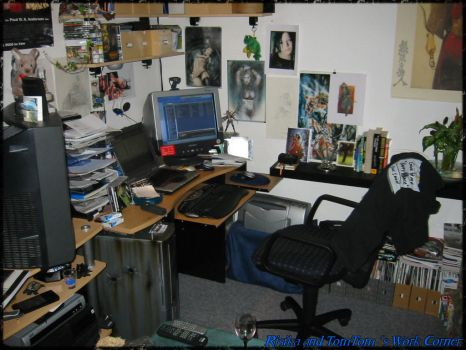 Risika and Tomtom Work Corner by tomtom2099
