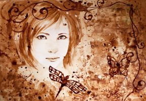 Coffee Painting by MirielDesign