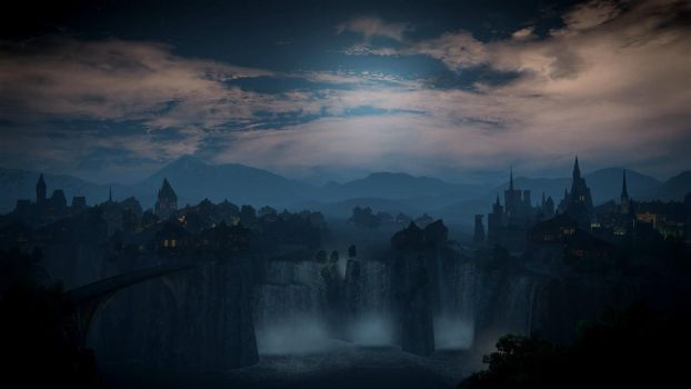 Witcher 3 Tir na Lia Dreamscene by droot1986
