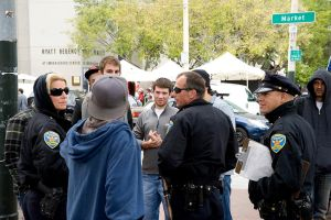 SF Occupy Wall St Reps Negotiate with SF Police by William1942