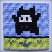 Super Mario 2 (USA) - Ninji Stitch Craft by nintentofu