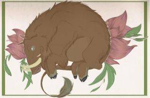 ::Floral Boar:: by KaijuRomance