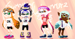 Splatoon_OCs: Smiling Squimmers by Chivi-chivik