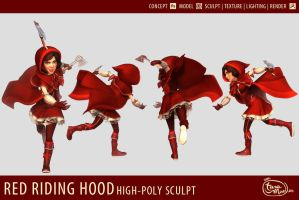 Red Riding Hood - 3D Modelsheet by dizzyclown