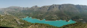 Blue lake in spanish mountains by BlokkStox