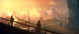 Speed Painting: Futuristic Lava Industries by NatMonney