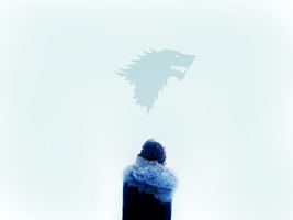 Jon Snow - Blue Direwolf by FirstTimeLady