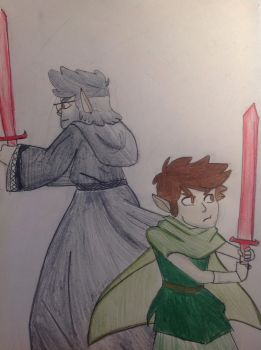 GRAVITY FALLS | Grunkle Ford and Dipper Fanart  by Tia-Boulanger