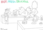 hot fresh delicious by Saphiin