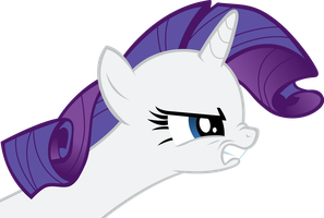 Angry Rarity by Spydol