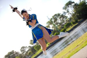 Chun Li Victory Jump by too-school-for-cool