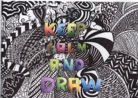 Keep calm and draw :la: by Zelsham