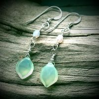 Elven Green Leaf Earrings~ by QuintessentialArts