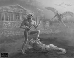 Primal Fury - Altered Beast Fan Art - Project KKG by Dreamspirit