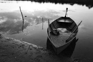 Boat on the river - Motherland Series by evaereg