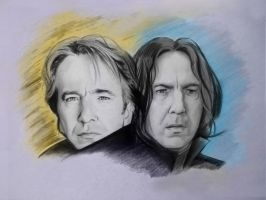alan rickman Severus Snape by karlyilustraciones