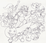 Rough Draft - Bowser's Army by SgtChilly