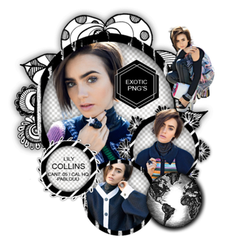 Pack Png 1313 // Lily Collins. by ExoticPngs