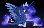 Luna at Starry Night Sky by NightmareLunaFan