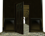 Cut-out room door opens by madetobeunique
