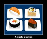 A sushi platter by kurailord