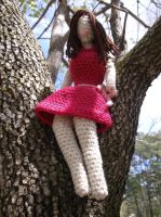 Crochet Doll in Pink Dress by ShadowOrder7