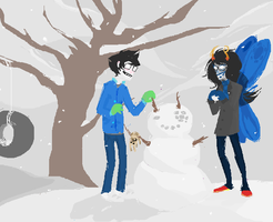 sad dead kids in the snow by awesome-pants
