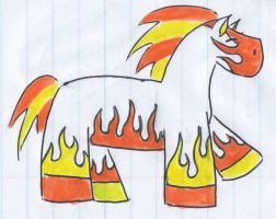 Flaming Death Pony by panhead121