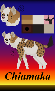 Chiamaka The Piebald Hyena by FlareFireFox