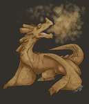 Cinnamon Breathing Dragon by SometimesCats