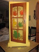 Leaf Cabinet fused glass by reflectionsshattered