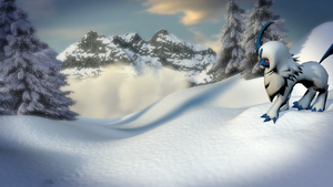 Mountaintop Absol [3D M0DEL] by TheModerator