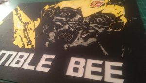 Paper cut Bumble Bee Close up by swiftflik
