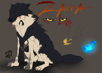 Zarra reference sheet by Diivon