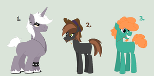 Themed Stallions Adopts [CLOSED] by KatPocketMonster
