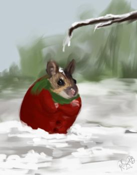 Mouse doesn't like snow. by UntoldPromises