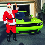 Santa and his Challenger by Kittylover9399