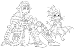 Aoashira and Plesioth lines by Pechan