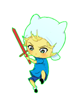 Chibi Finn by BubbleSpeech