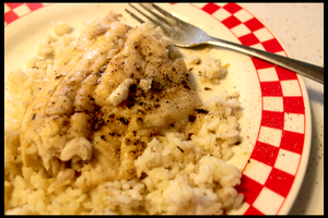 Catfish on Bed of rice by AaronMk