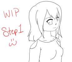 WIP Girl: Step 1 by MelodicMarzipan