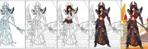 WoW Blood Elf creation process by JScott88